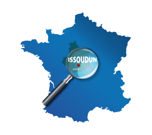 carte france issoudun